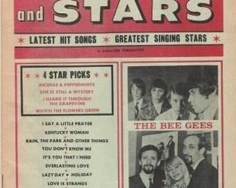 Three Vintage Lyrics Magazines--Songs and Stars from 1967-1968