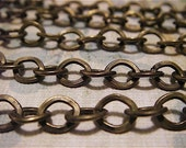 H.G. Wells - 5 Foot - Steampunk - Rustic - Antique Bronze Cross Chain