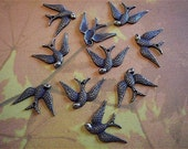 Antique Bronze Bird Charms 10 - Antique Bronze - Bird Charm (ABBC)