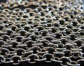 Silver chain - Queen Victoria - 10 Foot - Steampunk  - Silver Cross Chain
