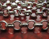 Lewis Carroll - 10 Foot - Steampunk - Chunky - Antique Silver Cross Chain
