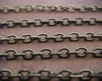 Virginia Woolf - 20 Foot - Steampunk - Rustic - Antique Bronze Cross Chain