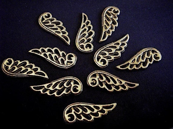 10 - Antique Gold - Angel Wing Charm (AGWC)