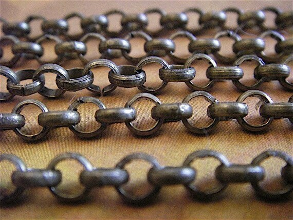 Artemus Gordon - 10 Foot - Steampunk - Rustic - Antique Bronze Cross Chain