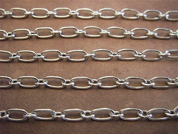 Silver Chain - Mrs. Lovett - 10 Foot - Antique Silver Mother and Son Chain