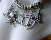 Pirate inspired fit snake style charm necklace