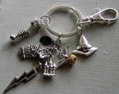Harry Potter inspired keychain or bag clip