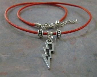 Harry Potter lightning bolt necklace