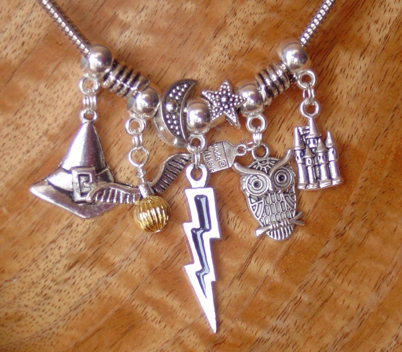 Harry Potter Pandora Style Charm Necklace