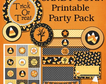 Candy Corn Printable Party Pack