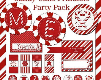 Candy Cane Printable Christmas Party