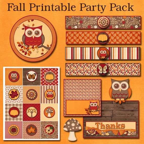 Fall Printable Party Pack