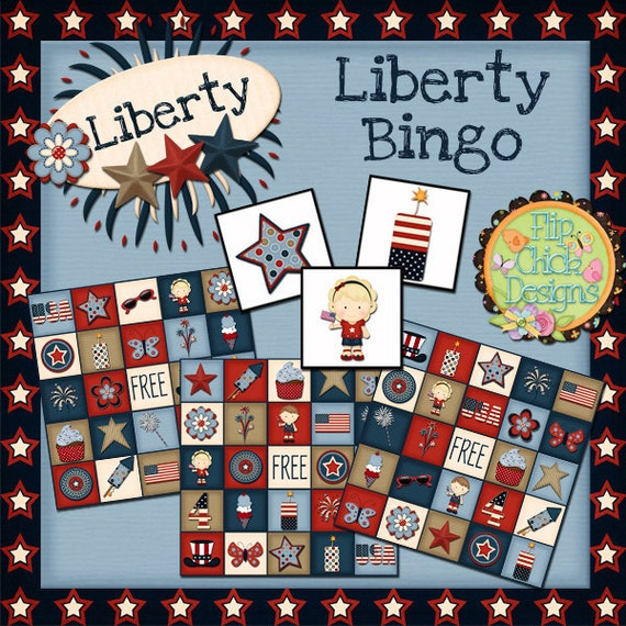 4th of July Printable Bingo Game