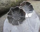 Silver Blossom Post Earrings