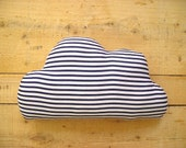 Little Cloud Cushion - Navy and White Stripe