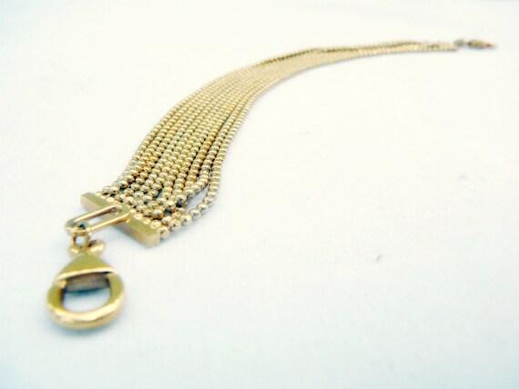 Carolee Hobnail Bracelet . Vintage Gold Tone Jewelry