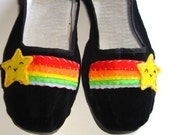 Womens Rainbow Starburst black maryjane