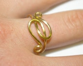 Entwined - gold ring, adjustable