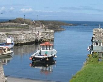 Beautiful fishermans harbour Ballitoy Northern Ireland