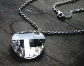 sterling silver pendant with big swarovski round element