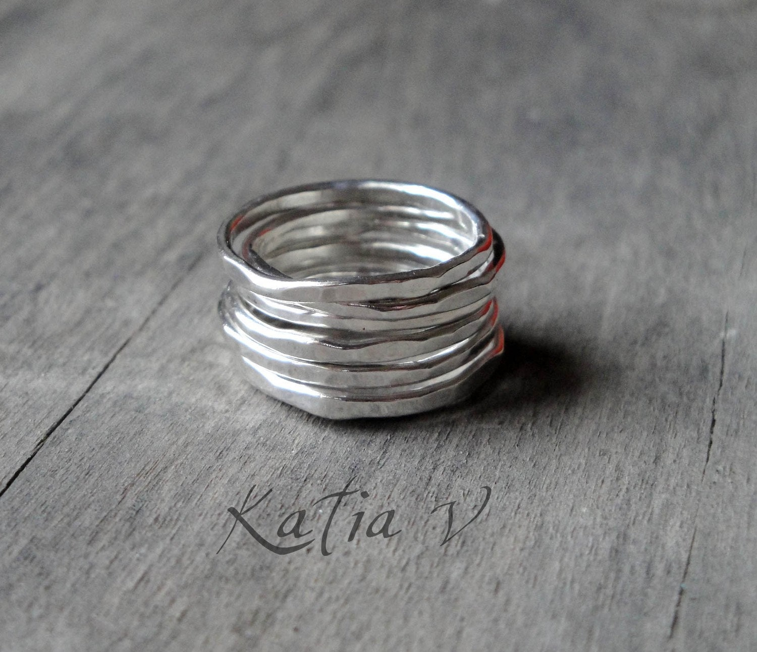 gift for stacking rings set of 7 sterling by