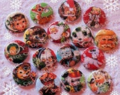 A Christmas Story 1 inch Plastic Back Medallion Cabochon Cameo Charms 25mm Lot - A