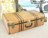 Antique Metal Suitcase - Classic Vintage