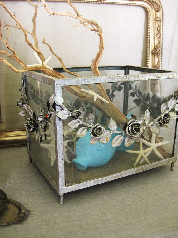 Antique Aquarium Terrarium Planter Victorian Fish Tank