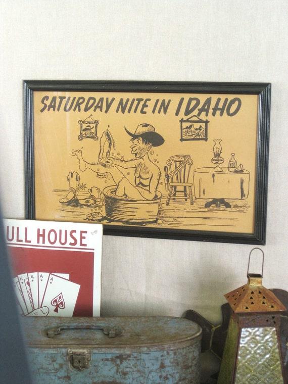 Humorous Vintage Print- Farmland Chic