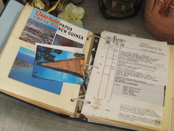 Vintage Travel Journal/ Information Binder- Classic Vintage
