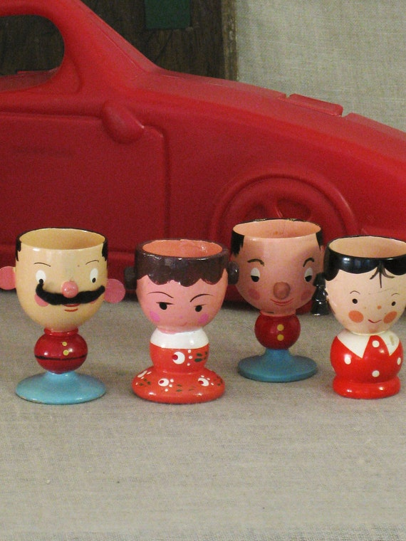 Vintage Italian Family of Egg Cups- Cottage Life