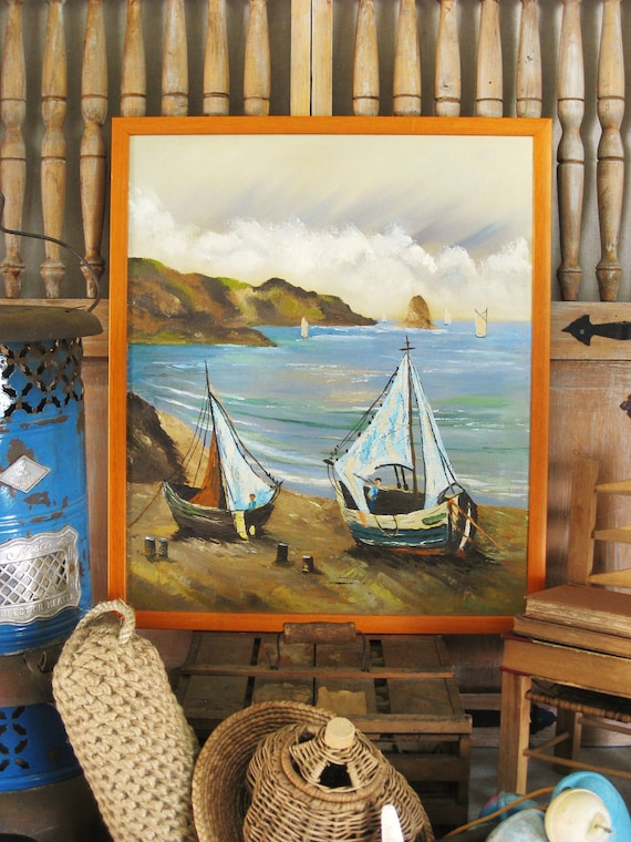 Vintage Seascape Painting- Vintage Art Gallery