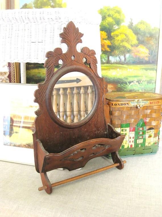 30% Off ENTIRE Shop - Antique Wooden Comb Box- Cottage Life