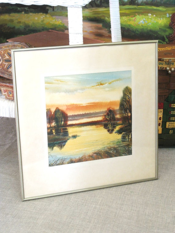 Vintage Watercolor Original Landscape - Vintage Art Gallery