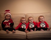 Thing 1, Thing 2, and Thing 3 TRIPZEES set( onesies for triplets) OR siblings, great baby shower gift