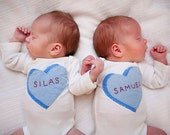 Twin Set Candy Conversation hearts VALENTINE'S Day Bodysuits or t-shirts for twins or siblings, 1st Valentine's day photo prop