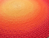 Deposit for Ombre Sunset braided rug Made to order from Organic cotton