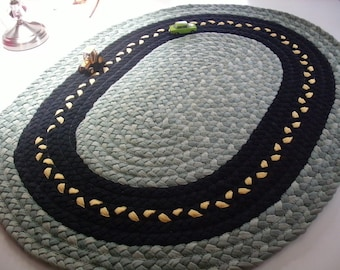 Grass and road rug, play mat made from recycled t shirts