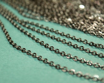 whole shop now with prices 50% off - 3 Feet - Gun Metal Plated Cable Chain - Soldered Links - 2.5 x 3mm - CHN0724
