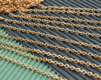 whole shop now with prices 50% off - 3 feet - Red Brass Drawn Cable Chain - faceted edge - Very Sparkling - 3 x 4mm - CHN0734