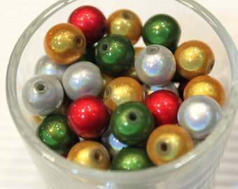 whole shop now with prices 50% off - 30pcs - Shiny Colors Resin Plastic Round Beads - 10mm