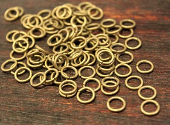 50 pcs Antique Bronze jump rings - 8mm