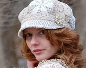 Heirloom Lace Newsboy Hat