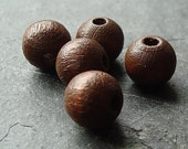 Wooden Beads 8mm Chestnut Brown Smooth Rounds -  30 pieces