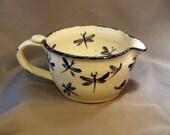 Stoneware Pottery Dragonfly Batter Bowl 11DFBATTER1