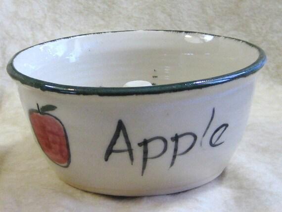 Stoneware Pottery Apple Baker 1228ab1