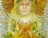 The Storyteller - A Fine Art Greeting Card