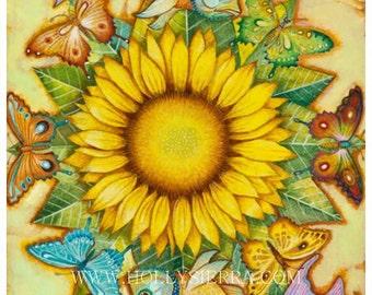 The Golden Flower - Magical Sunflower Mandala