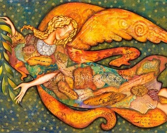 Literary Angel - A Fine Art Greeting Card