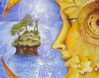 The Moon - A Fine Art Greeting Card